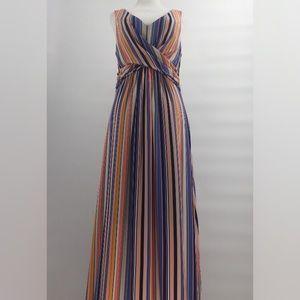 Jessica Simpson Maxi Dress Multi-Color Striped M